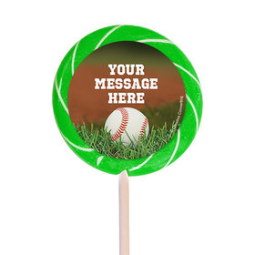 "Baseball Personalized 3"" Lollipops (12 Pack)"