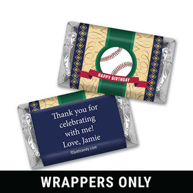 Vintage Baseball Personalized Miniature Wrappers