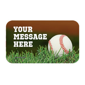 Baseball Personalized Rectangular Stickers (18 Stickers)
