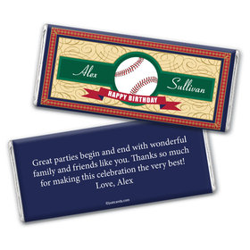 Vintage Baseball Personalized Candy Bar - Wrapper Only