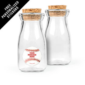 Baseball Personalized Glass Bottle with Cork (24 pack)