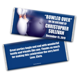 Bowling Personalized Candy Bar - Wrapper Only