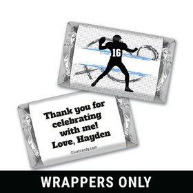 Quarterback Toss Personalized Miniature Wrappers