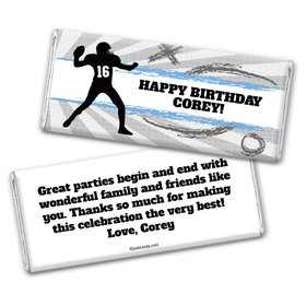 Quarterback Toss Personalized Candy Bar - Wrapper Only