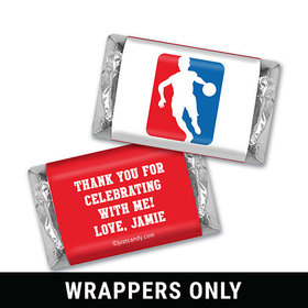 Birthday Personalized HERSHEY'S MINIATURES Wrappers Basketball NBA Logo