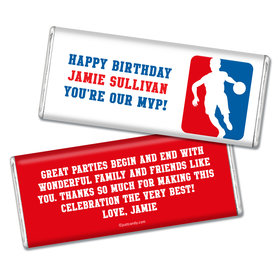 Birthday Personalized Chocolate Bar Basketball NBA Logo