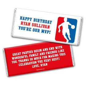 Point Guard Personalized Candy Bar - Wrapper Only