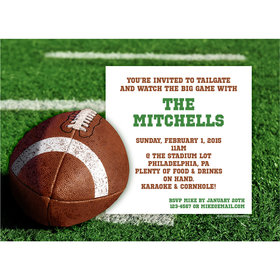 Football Personalized Invitation