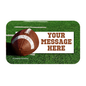 Football Personalized Rectangular Stickers (18 Stickers)