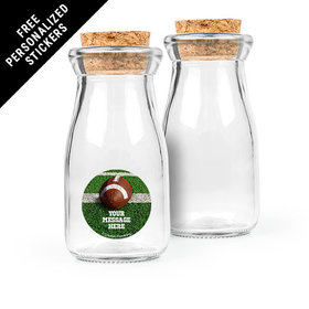 Football Personalized Glass Bottle with Cork (24 pack)