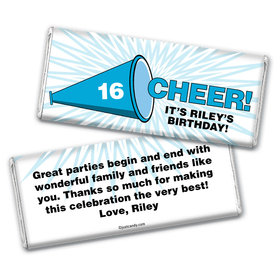 Cheer Personalized Candy Bar - Wrapper Only