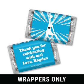 Birthday Personalized HERSHEY'S MINIATURES Wrappers Basketball Slam Dunk