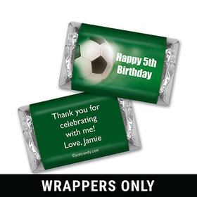 Birthday Personalized HERSHEY'S MINIATURES Wrappers Large Soccer Ball