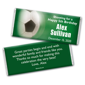 Soccer Personalized Candy Bar - Wrapper Only