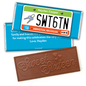 On The RoadEmbossed Happy Birthday Bar Personalized Embossed Chocolate Bar Assembled