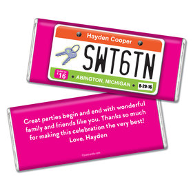 Birthday Personalized Chocolate Bar Sweet 16 License Plate