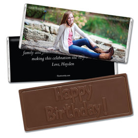 Birthday Personalized Embossed Chocolate Bar Full Photo