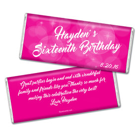 Birthday Personalized Chocolate Bar Bubbles & Dots
