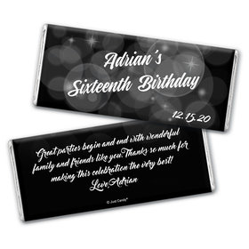 Bubbly Birthday Personalized Candy Bar - Wrapper Only