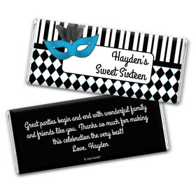 Masquerade Personalized Candy Bar - Wrapper Only