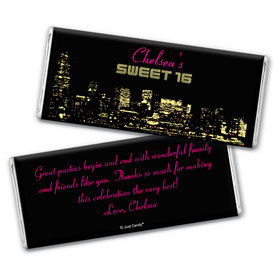City Skyline Personalized Candy Bar - Wrapper Only
