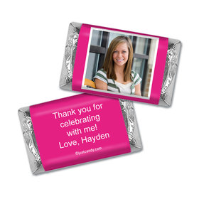 Birthday Personalized HERSHEY'S MINIATURES Wrappers Photo & Message