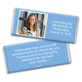 Sweet 16 Snapshot Personalized Candy Bar - Wrapper Only
