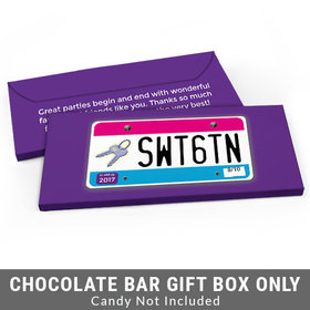 Deluxe Personalized License Plate Sweet 16 Birthday Candy Bar Favor Box
