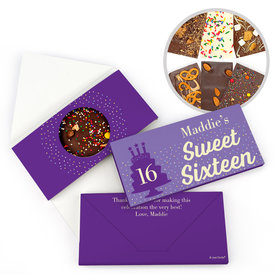 Personalized Birthday Sweet 16 Let's Celebrate Birthday Gourmet Infused Belgian Chocolate Bars (3.5oz)