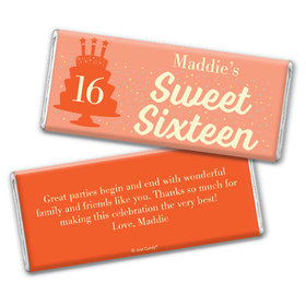 Personalized Sweet 16 Birthday Let's Celebrate Chocolate Bar