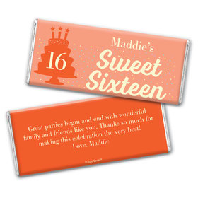 Personalized Sweet 16 Birthday Let's Celebrate Chocolate Bar Wrappers