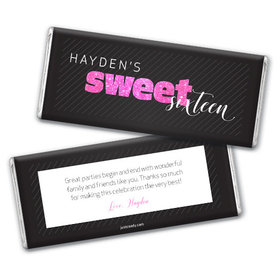 Personalized Sweet 16 Birthday Chic 16 Chocolate Bar & Wrapper