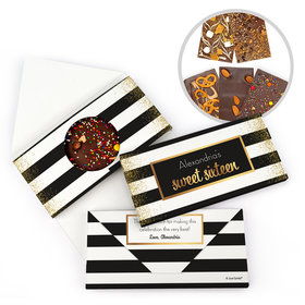 Personalized Birthday Sweet 16 Sweet 16 Uptown Glitz Birthday Gourmet Infused Belgian Chocolate Bars (3.5oz)