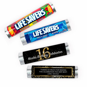 Personalized Elegant 16th Birthday Bash Lifesavers Rolls (20 Rolls)