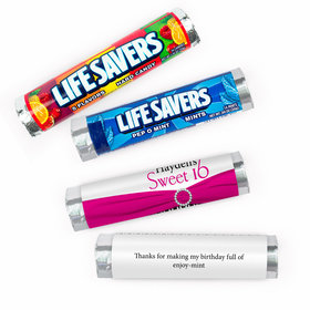 Personalized Sweet 16 Glamour Girl Lifesavers Rolls (20 Rolls)