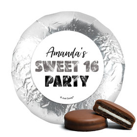 Personalized Sweet 16 Birthday Beach Party Chocolate Covered Foil Oreos s