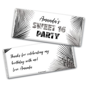 Personalized Sweet 16 Beach Party Chocolate Bar