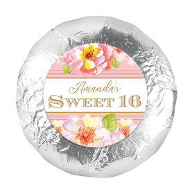 "Personalized Sweet 16 Birthday Darling Dreams 1.25"" Sticker (48 Stickers)s"