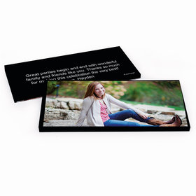 Deluxe Personalized Full Photo Sweet 16 Birthday Hershey's Chocolate Bar in Gift Box