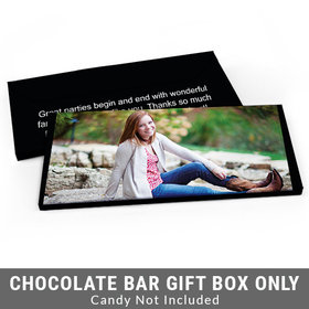 Deluxe Personalized Full Photo Sweet 16 Birthday Candy Bar Favor Box
