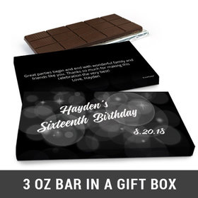 Deluxe Personalized Bubbles & Dots Belgian Chocolate Bar in Gift Box (3oz Bar)