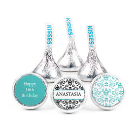 Personalized Birthday Sweet 16 Pattern Pattern Hershey's Kisses (50 pack)