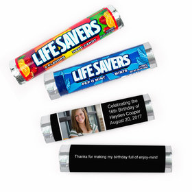 Personalized Sweet 16 Snapshot Photo Lifesavers Rolls (20 Rolls)