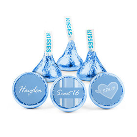 Personalized Birthday Sweet 16 Heart Pattern Hershey's Kisses (50 pack)