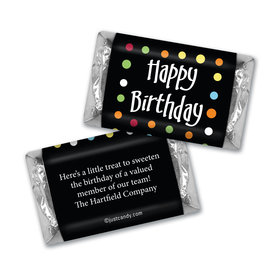 Personalized Hershey's Miniatures - Birthday Polka Dot