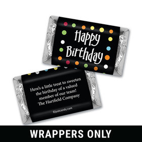 Personalized Hershey's Miniature Wrappers Only - Birthday Polka Dot