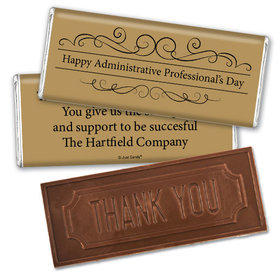 Administrative Professionals Gifts Thank You Embossed Thank You Chocolate Bar You Deserve It