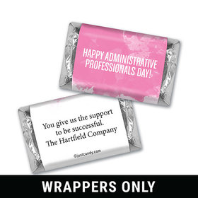 Personalized Hershey's Miniature Wrappers Only - Administrative Professionals Day Watercolor Blots