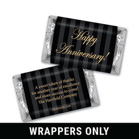 Personalized Hershey's Miniature Wrappers Only - Administrative Professionals Day Formal Gold and Pinstripes