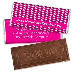 Administrative Professionals Day Embossed Thank You Chocolate Bar Illusion